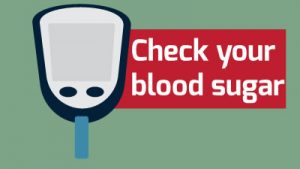 Diabetic Patient Care - check your blood sugar